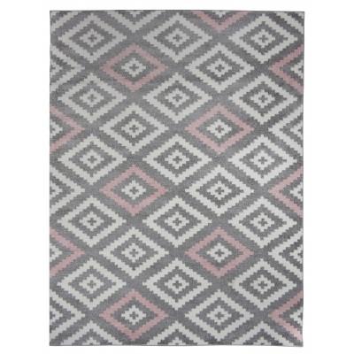 koton tapis de salon scandinave tavla rose pastel gris et blanc 160 x 230 cm. Black Bedroom Furniture Sets. Home Design Ideas